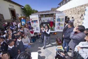 ALAC de Yanacocha presentó la Bibliomóvil como parte del proyecto Promoción de la lectura
