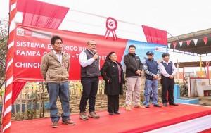 MEM inaugura proyecto electrico por mas de S 2 millones en Chincha