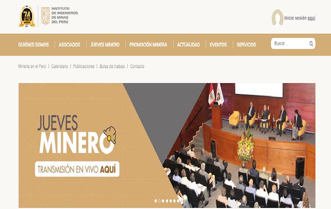Instituto de Ingenieros de Minas del Peru lanza renovada imagen digital