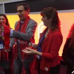 Embajadora Kutz y Embajador y Primer Vicepresidente Vizcarra