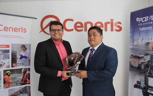 PCB Piezotronics premia a Ceneris como su mejor distribuidor regional 2018