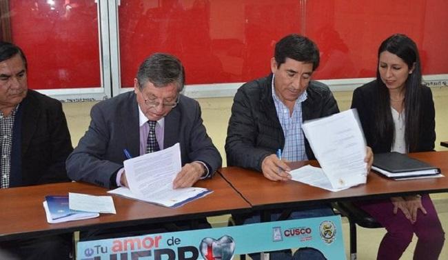 Diresa y Antapaccay firman convenio Khaly Kawsay para luchar contra la anemia