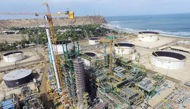 Modernizacion de la Refineria de Talara presenta avance de 74,56