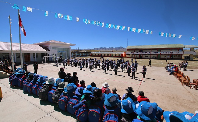 Antapaccay destina S6 millones para renovar infraestructura educativa en Cusco