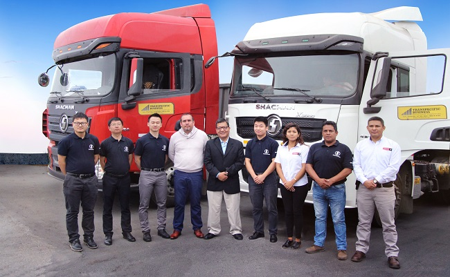Cresko entrega flota de tractocamiones Shacman a Transpacific Business