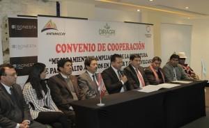 Cusco firman convenio para potenciar el agro en zonas altoandinas