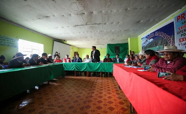 Cusco Gobierno y comuneros acuerdan consulta previa por proyecto Coroccohuayco