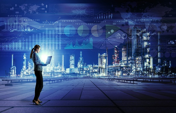 Smart factory concept. Internet of Things. Information Communication Technology.